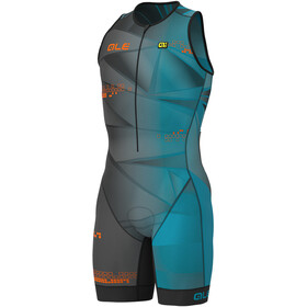 Alé Cycling Triathlon Hawaii Unitard Manga Corta Hombre, ottanio blue